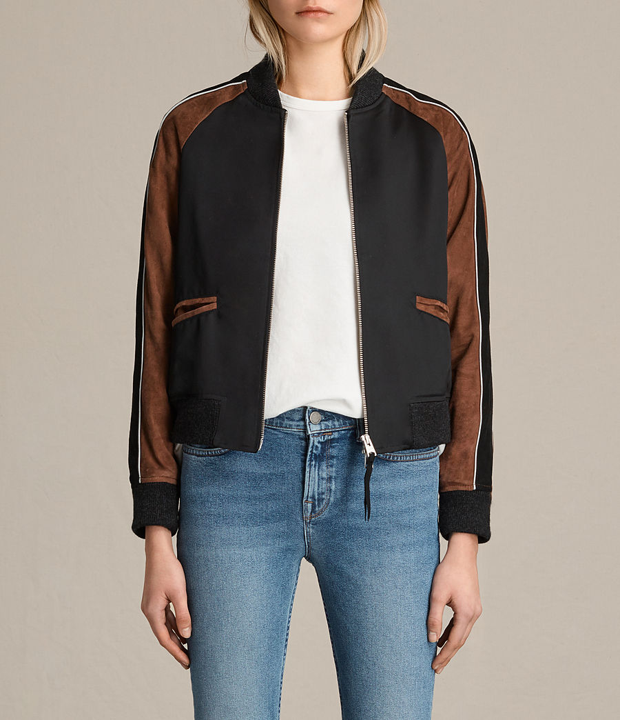 Femmes Bomber Atley (black_rust_red) - Image 1