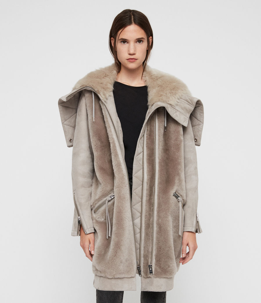 Women's State Lux Shearling Parka (grey_natural) - Image 1