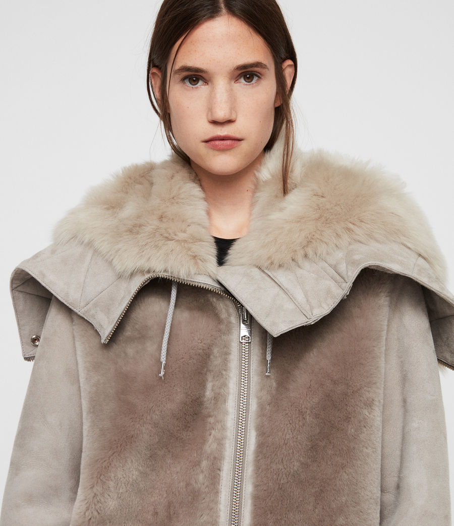 Women's State Lux Shearling Parka (grey_natural) - Image 2