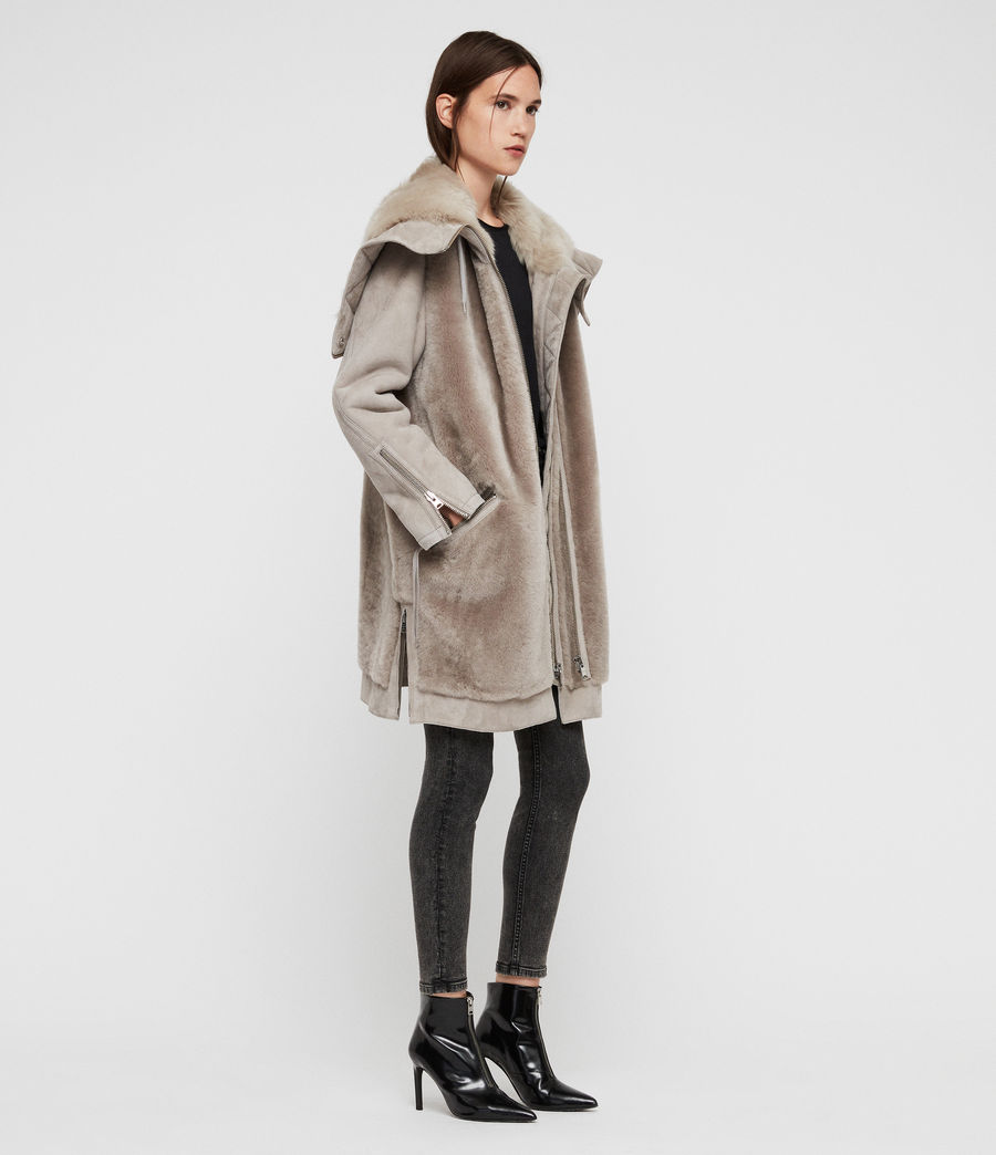 Women's State Lux Shearling Parka (grey_natural) - Image 3