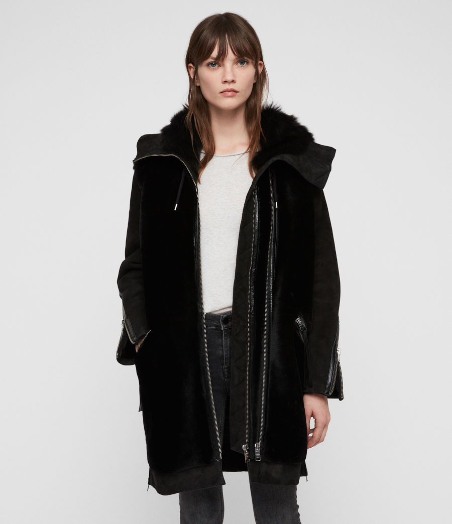 Womens State Lux Shearling Parka (black_black) - Image 1