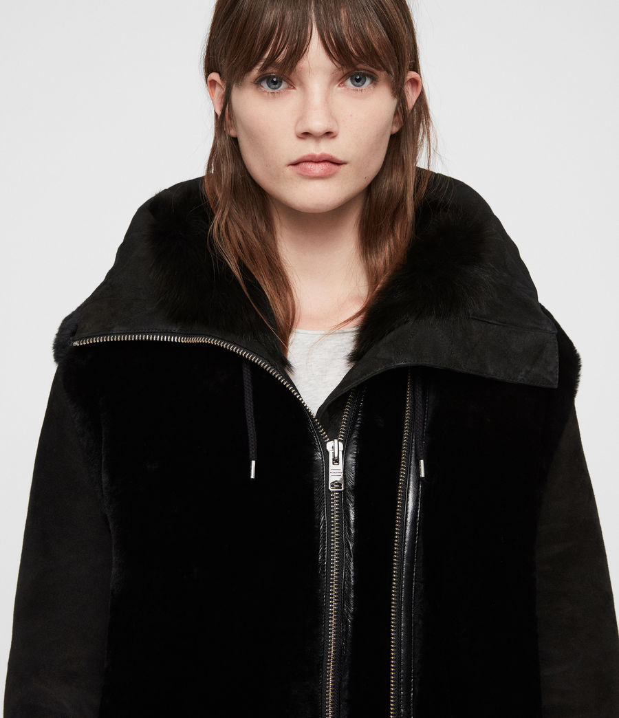 Women's State Lux Shearling Parka (black_black) - Image 1