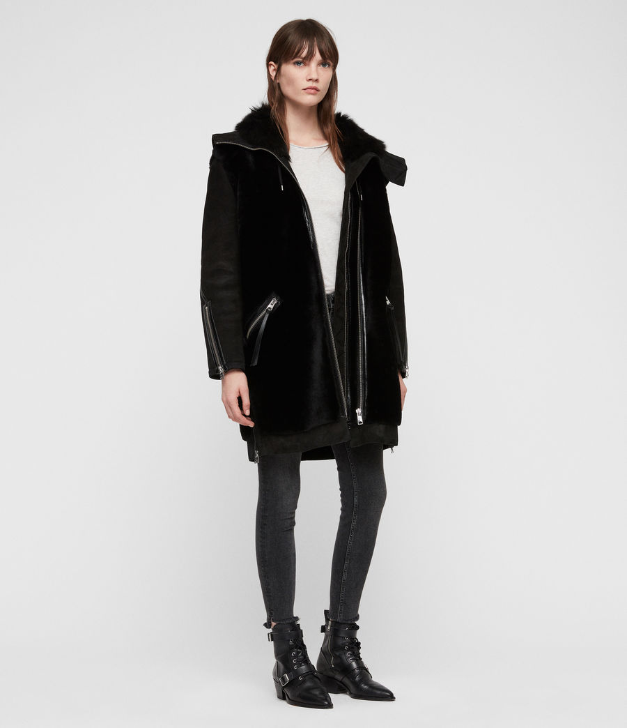 Women's State Lux Shearling Parka (black_black) - Image 2