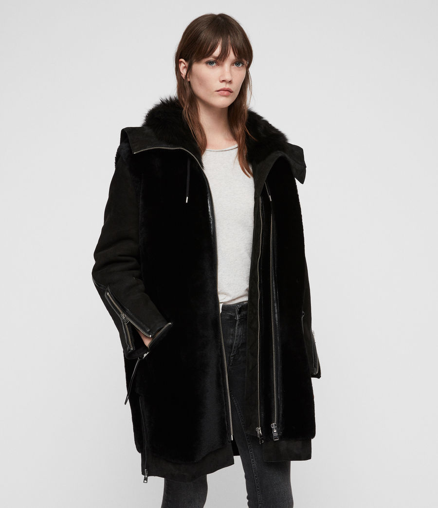 Womens State Lux Shearling Parka (black_black) - Image 5