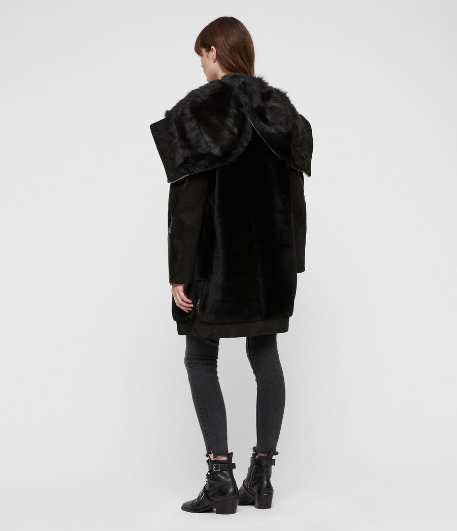 Women's State Lux Shearling Parka (black_black) - Image 7