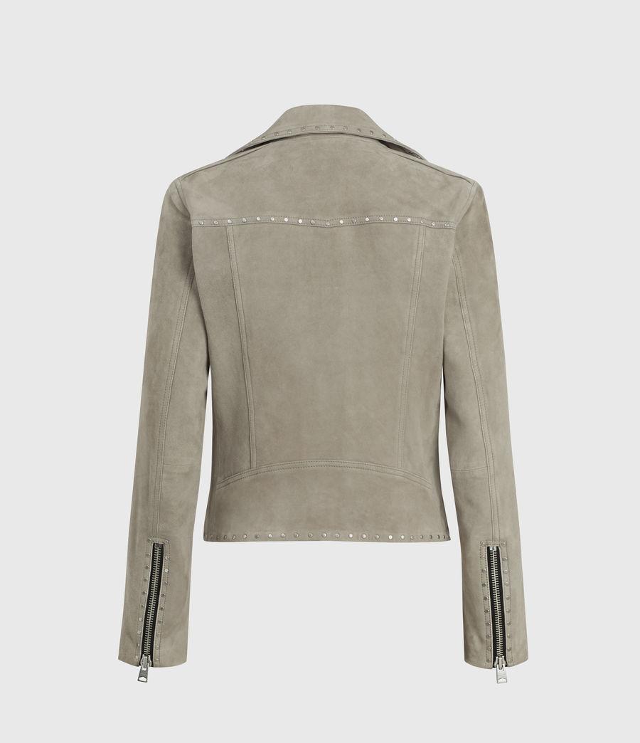 Womens Dalby Western Suede Biker Jacket (taupe_brown) - Image 2