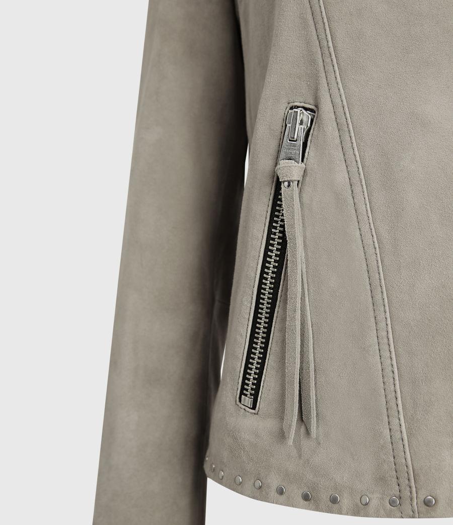 Women's Dalby Western Leather Biker Jacket (washed_black) - Image 3