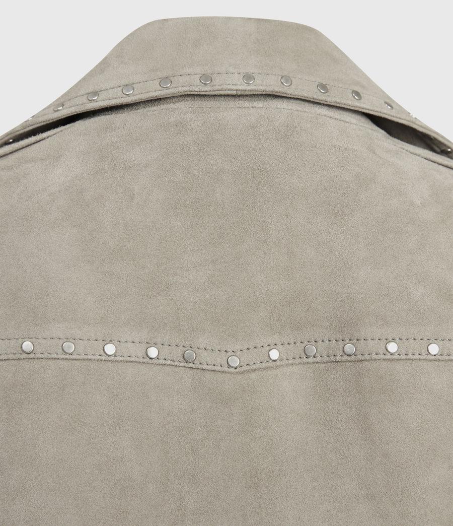 Womens Dalby Western Suede Biker Jacket (taupe_brown) - Image 5