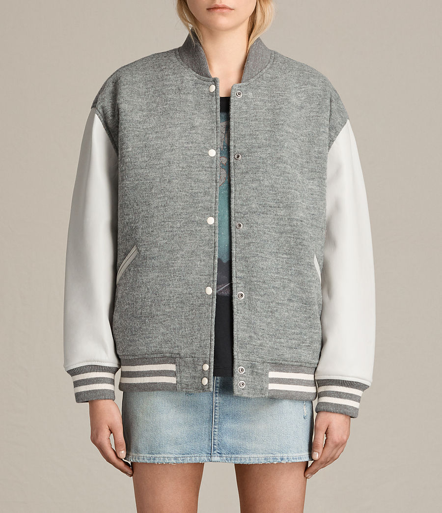 Women's Base Wool Bomber Jacket (light_grey_oyster) - Image 1