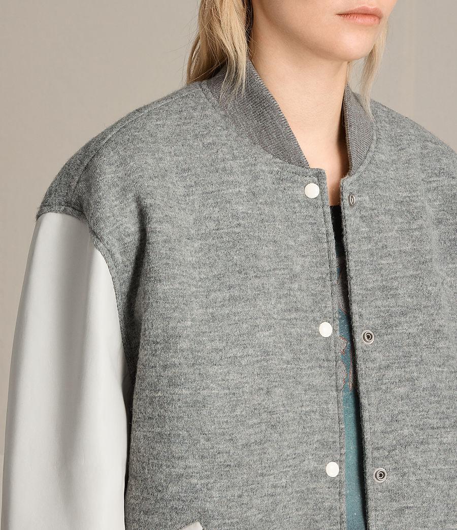 Women's Base Wool Bomber Jacket (light_grey_oyster) - Image 3