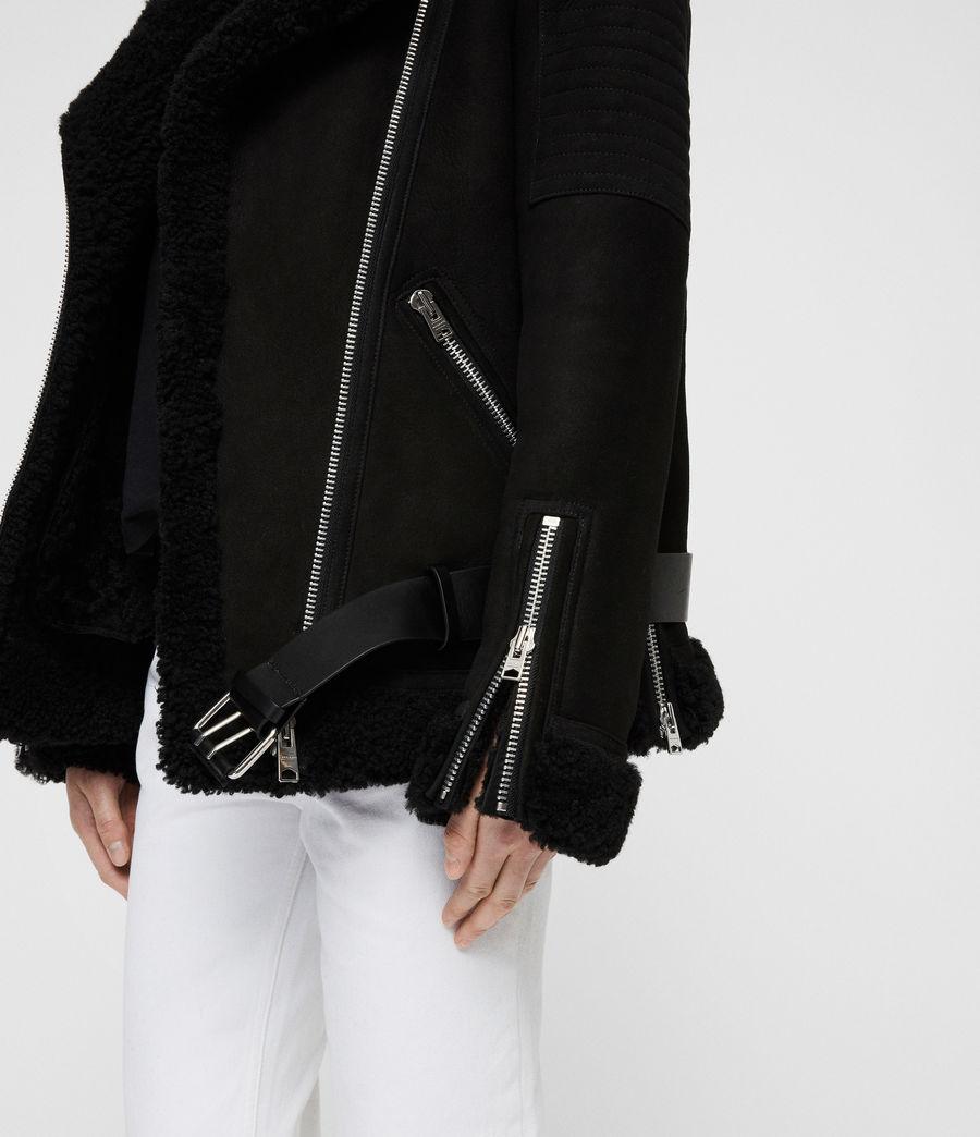Damen Garrix Shearling Jacke (black) - Image 2