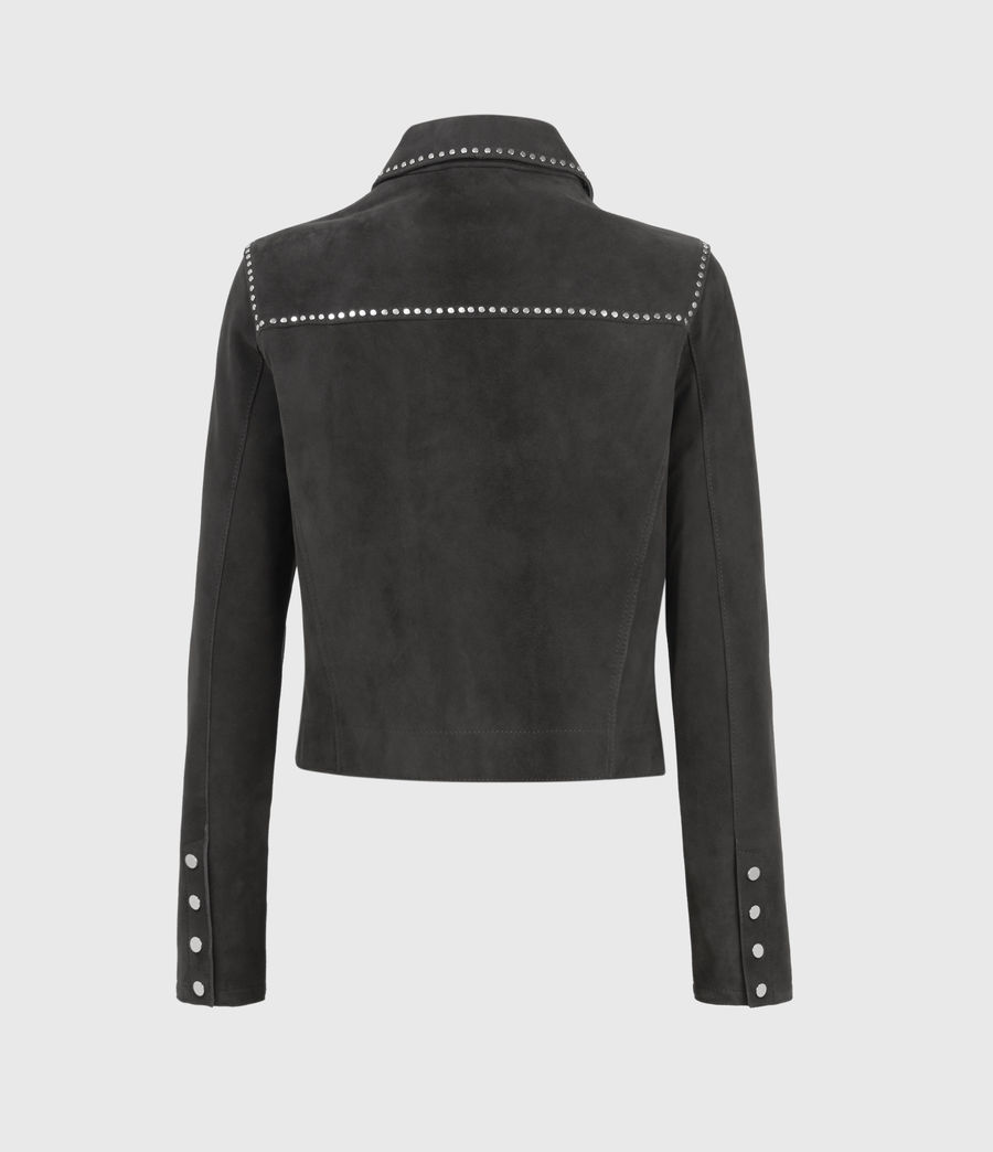 Womens Zaria Suede Jacket (washed_black) - Image 2