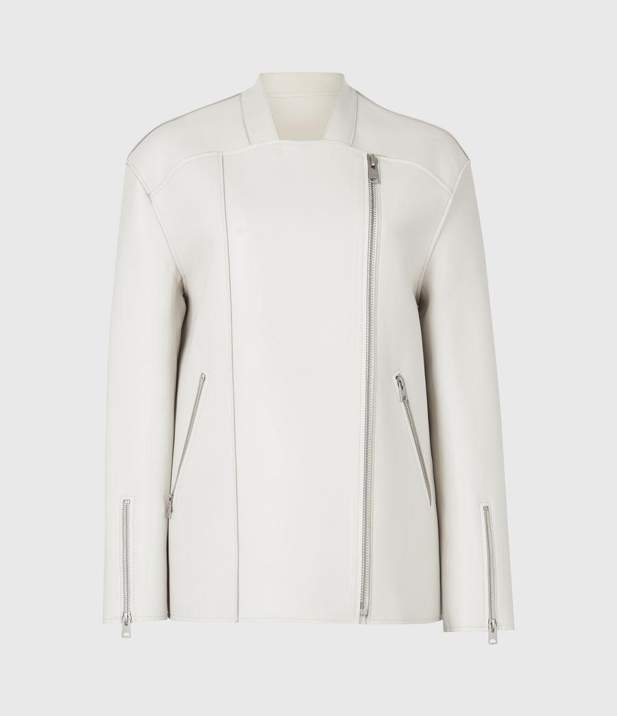 Womens Abbey Leather Jacket (off_white) - Image 2