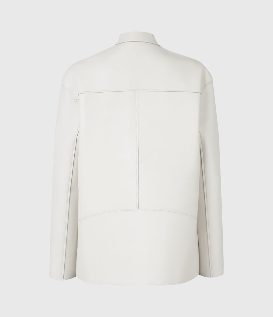 Womens Abbey Leather Jacket (off_white) - Image 3
