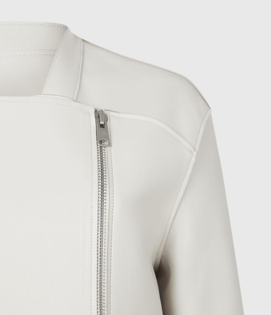 Womens Abbey Leather Jacket (off_white) - Image 5