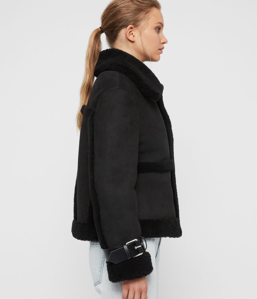 Womens Farley Shearling Jacket (black_black) - Image 6