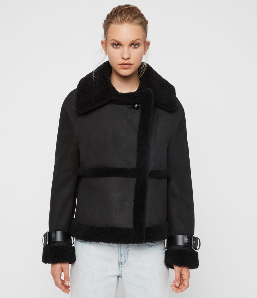 Womens Farley Shearling Jacket (black_black) - Image 7