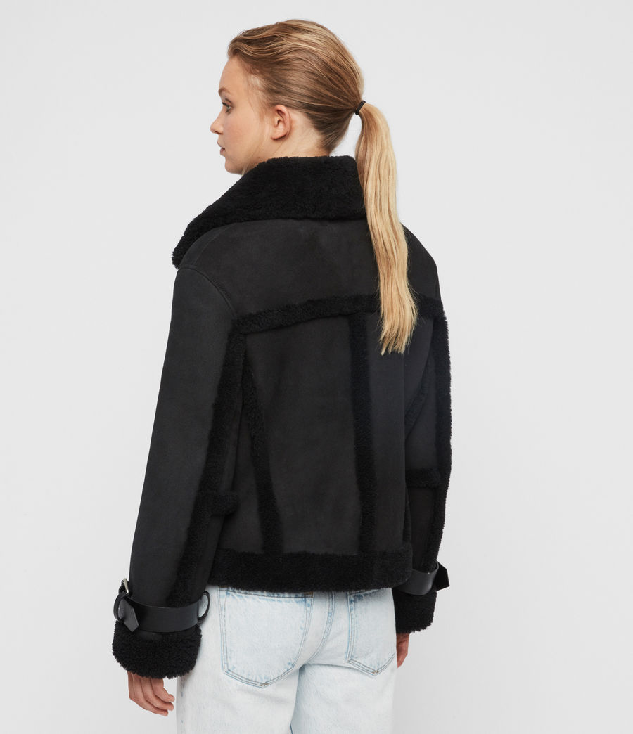 Womens Farley Shearling Jacket (black_black) - Image 8