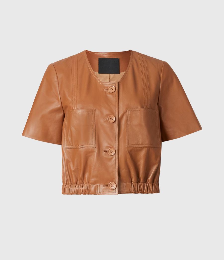 Damen Lea Leather Top (camel_brown) - Image 2