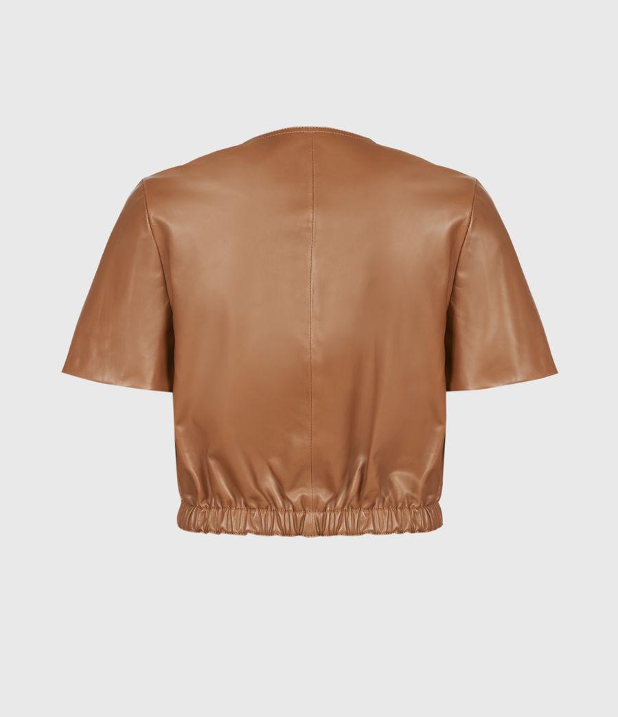 Damen Lea Leather Top (camel_brown) - Image 3