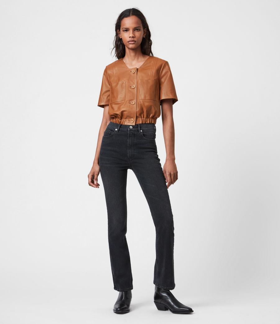 Damen Lea Leather Top (camel_brown) - Image 4
