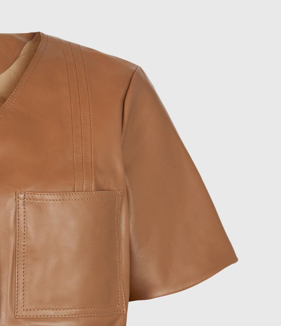 Damen Lea Leather Top (camel_brown) - Image 5
