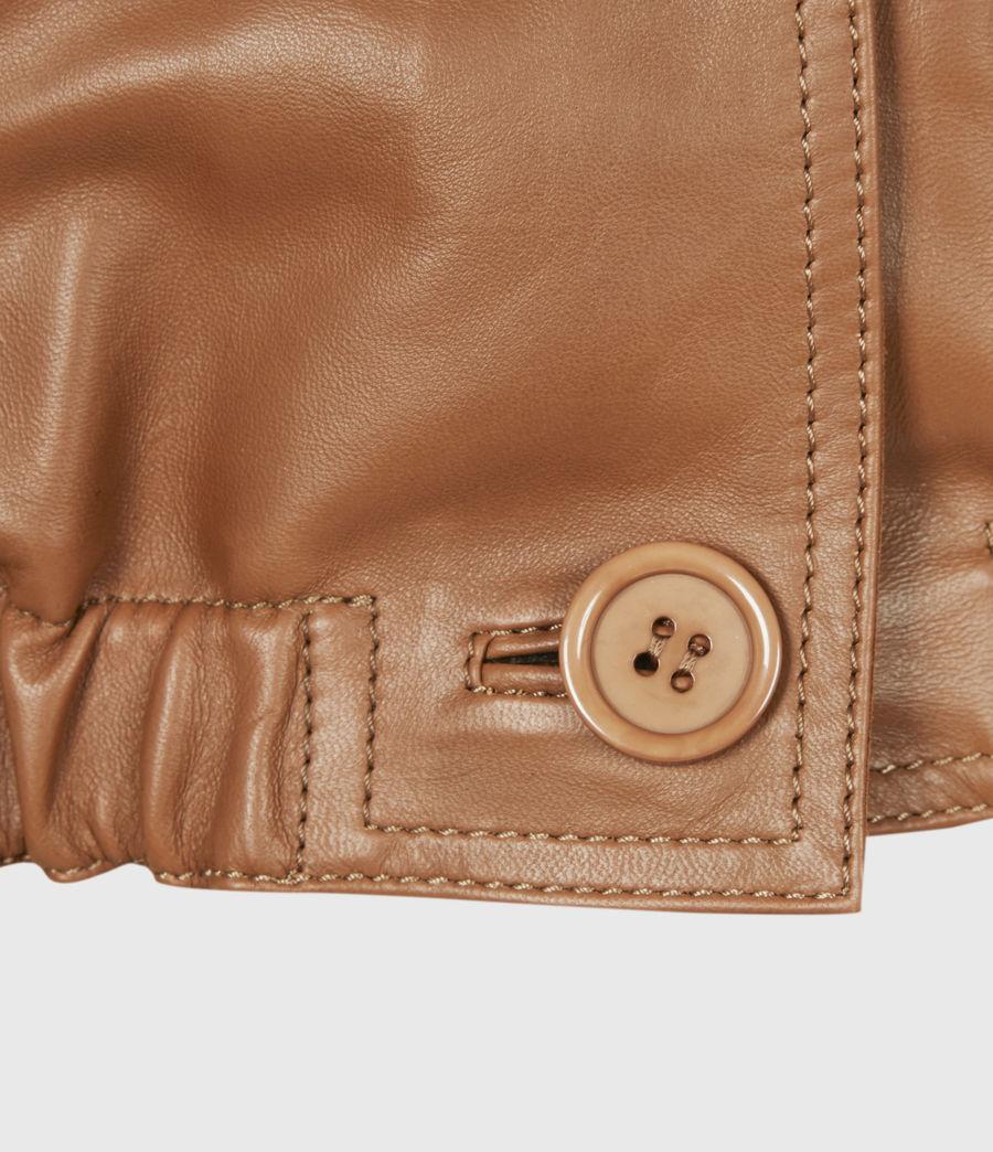 Damen Lea Leather Top (camel_brown) - Image 6