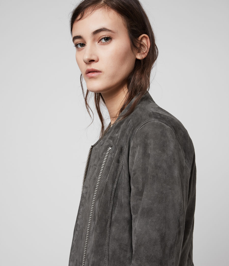 Women's Jae Suede Blazer (taupe_brown) - Image 2
