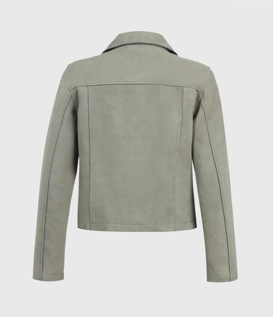 Women's Unlined Fern Suede Biker Jacket (dusky_pine) - Image 2