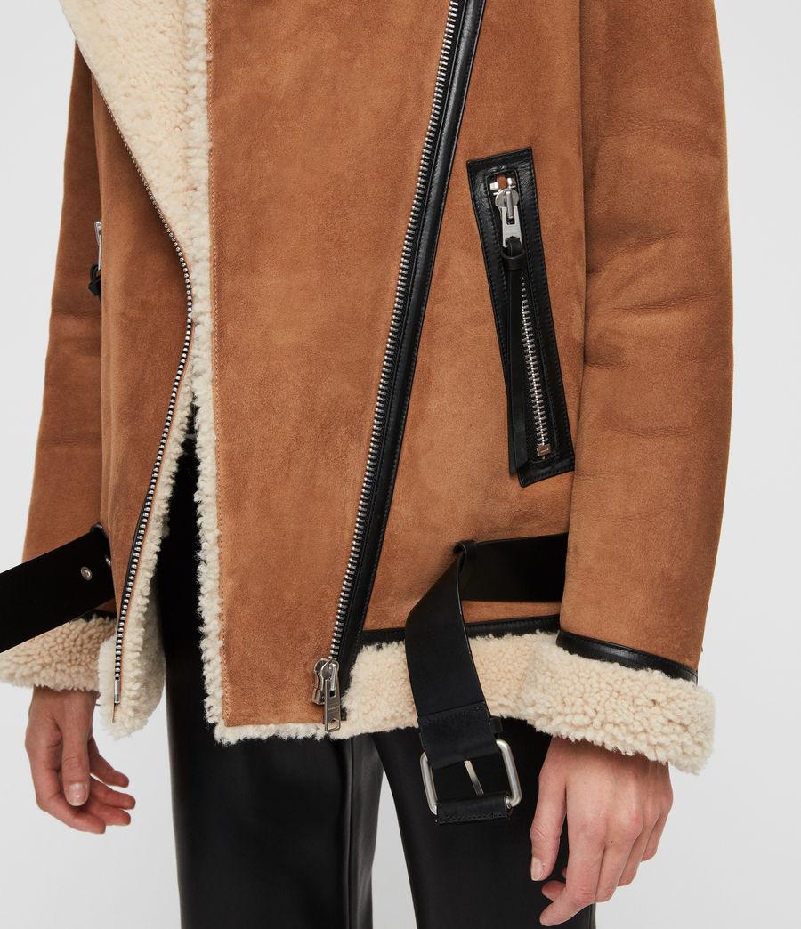 Womens Rei Shearling Jacket (sand_brown_ecru) - Image 2