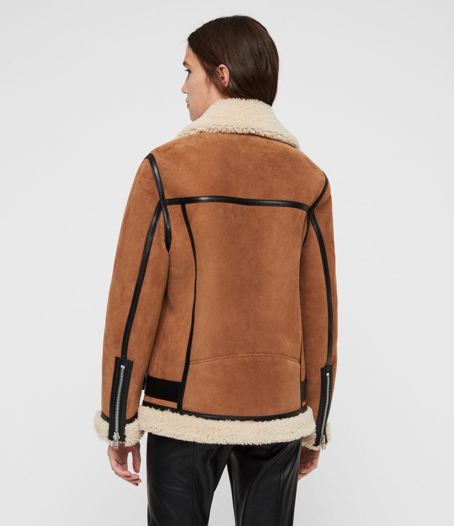 Womens Rei Shearling Jacket (sand_brown_ecru) - Image 7