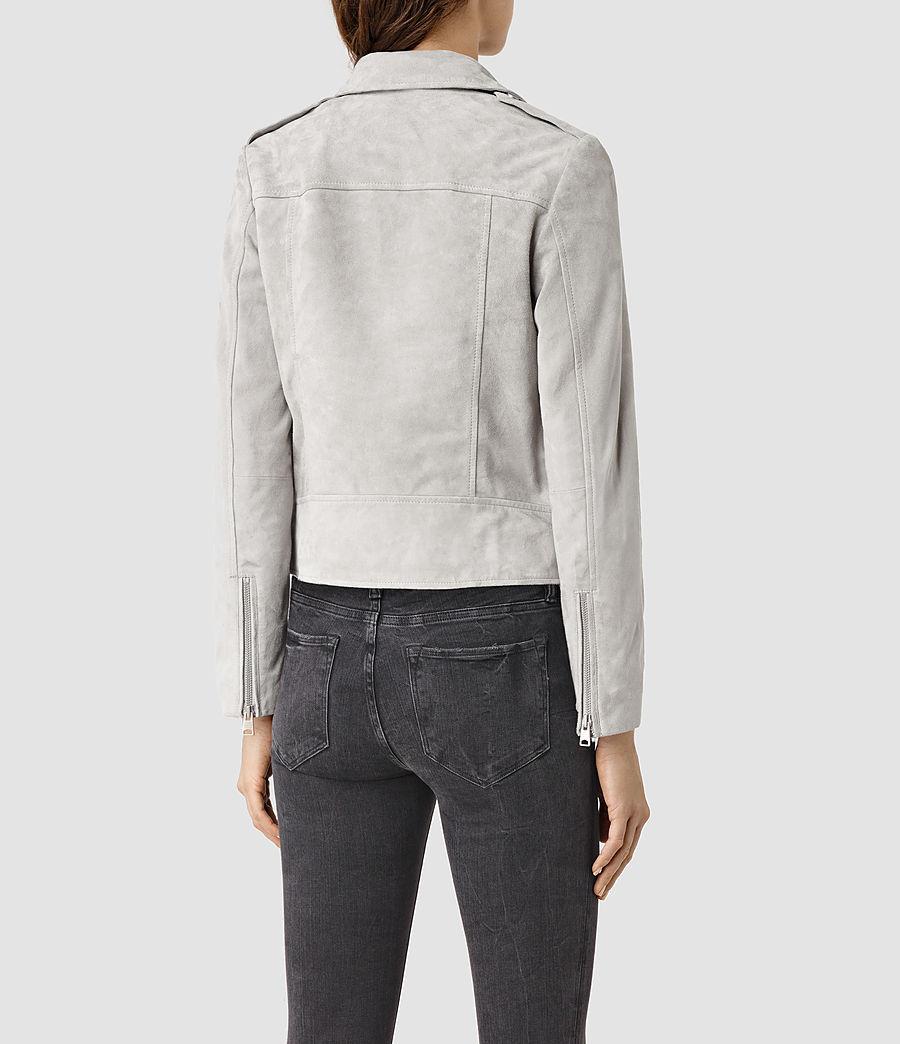 Womens Latham Suede Biker Jacket (pebble) - Image 4