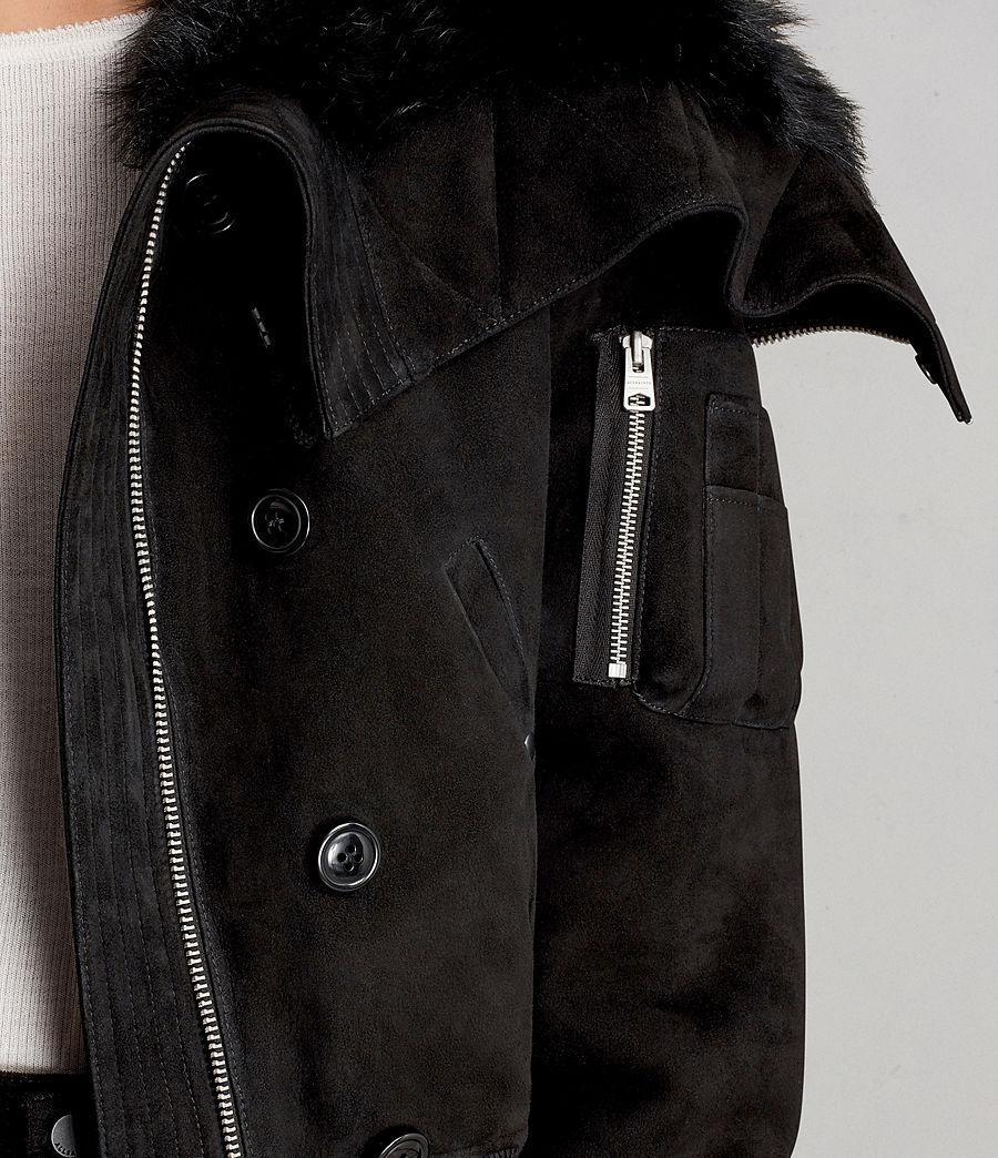Damen Trux Bomberjacke (black) - Image 6
