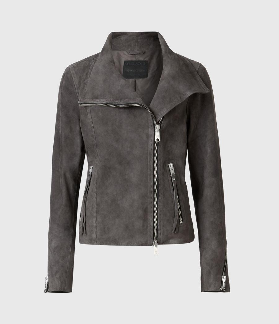 Women's Ellis Suede Biker Jacket (slate_grey) - Image 2