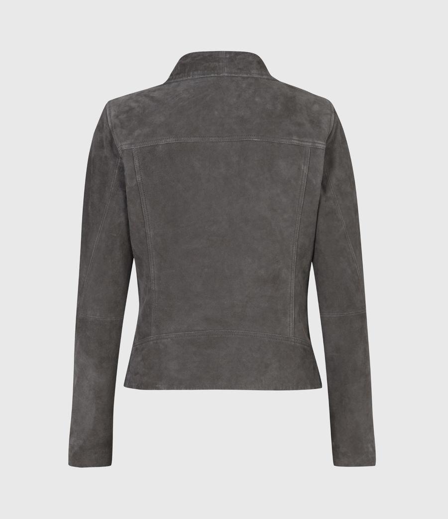 Women's Ellis Suede Biker Jacket (slate_grey) - Image 3