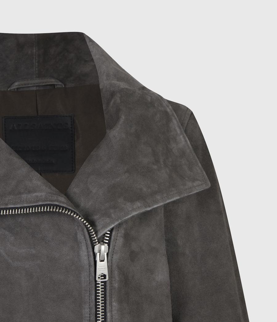 Women's Ellis Suede Biker Jacket (slate_grey) - Image 5