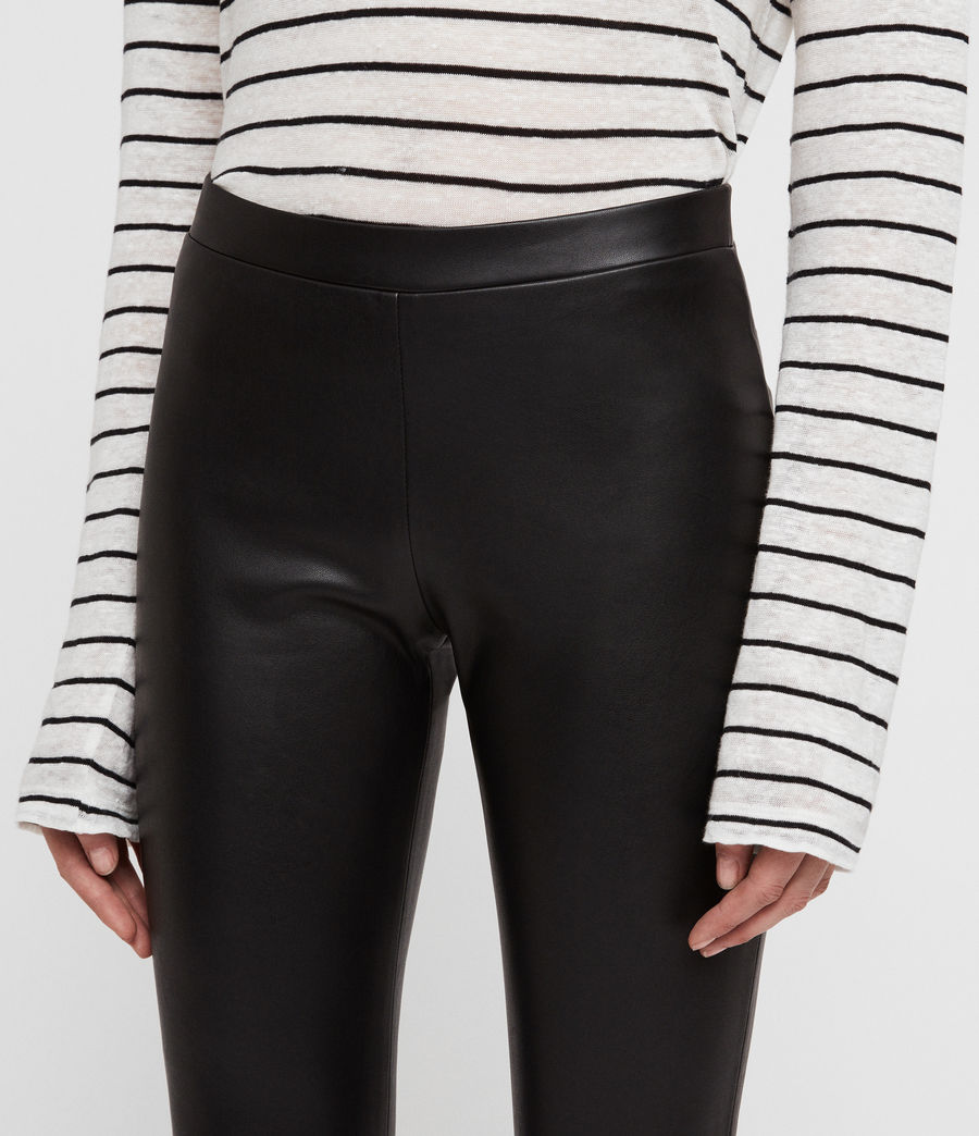 Womens Isla Faux Leather Leggings (black) - Image 3