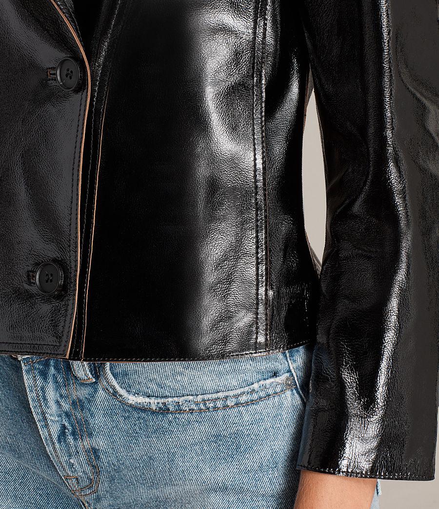 Mujer Blazer de piel Deebee Payton (black) - Image 4