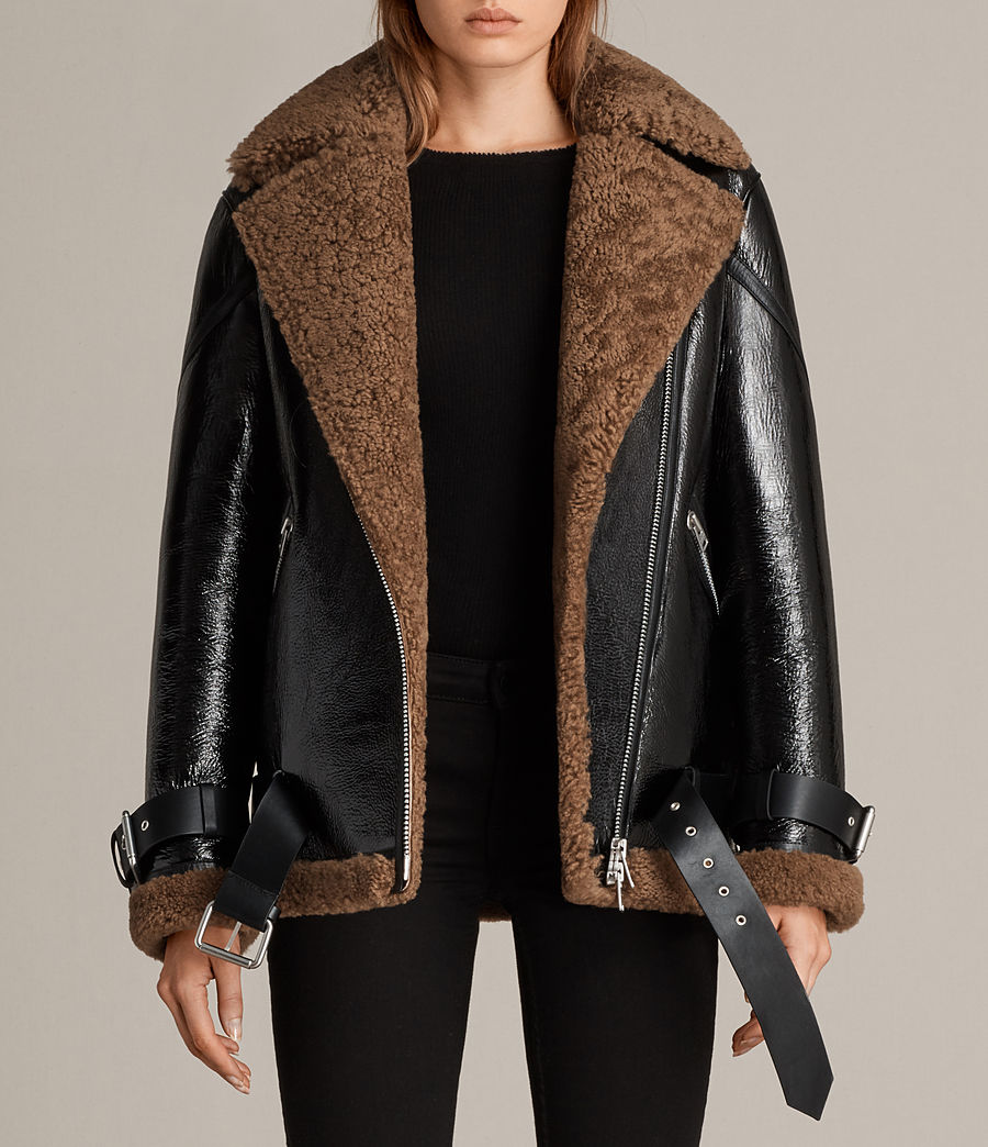 Donne Giacca Hawley Shearling Oversize (black_brown) - Image 1