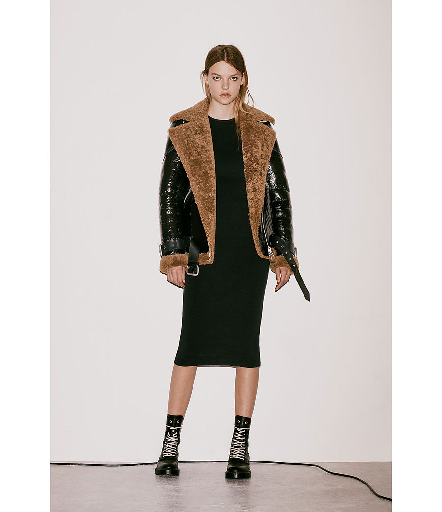 Donne Giacca Hawley Shearling Oversize (black_brown) - Image 10