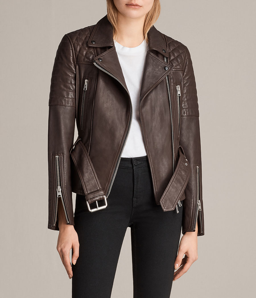 Womens Bryden Biker Jacket (oxblood_red) - Image 1