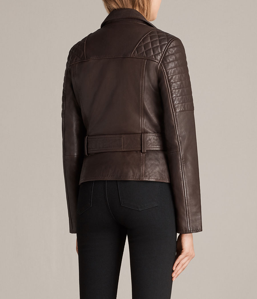 Womens Bryden Biker Jacket (oxblood_red) - Image 6