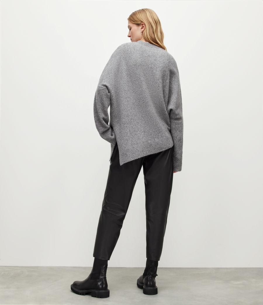 Womens Jen Leather Joggers (black) - Image 5