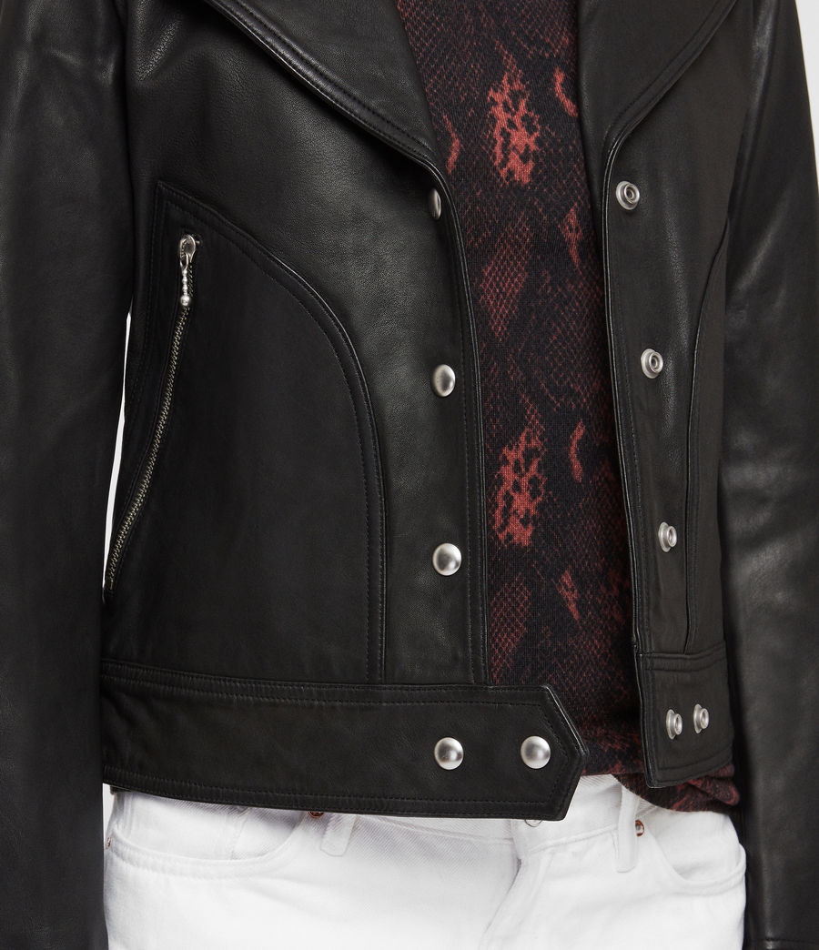 leather jacket men gap double breasted black