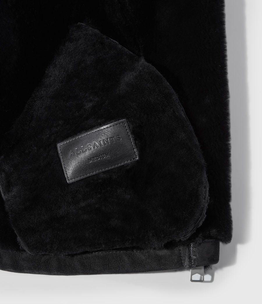 Mujer Willow Shearling Biker Jacket (black) - Image 7