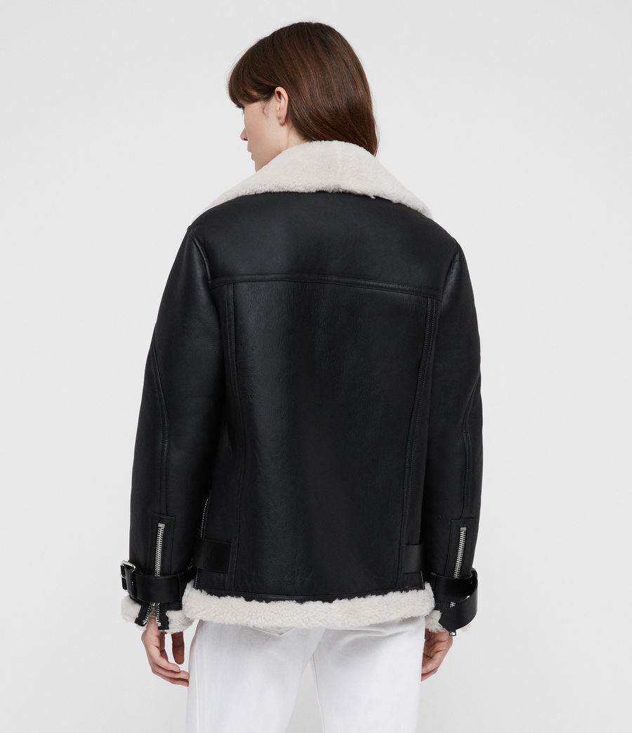 Mujer Chaquetón Oversized Hawley (black) - Image 4