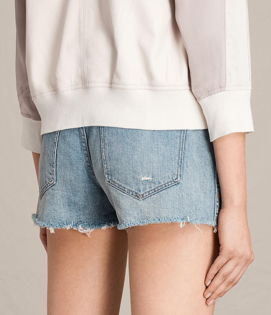 Women's Varley Leather Bomber Jacket (white_washed_pink) - Image 1