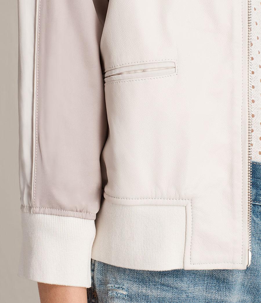 Women's Varley Leather Bomber Jacket (white_washed_pink) - Image 6