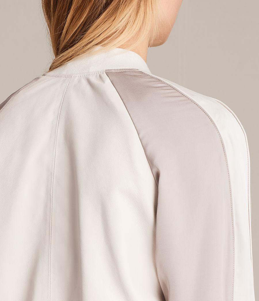 Women's Varley Leather Bomber Jacket (white_washed_pink) - Image 7