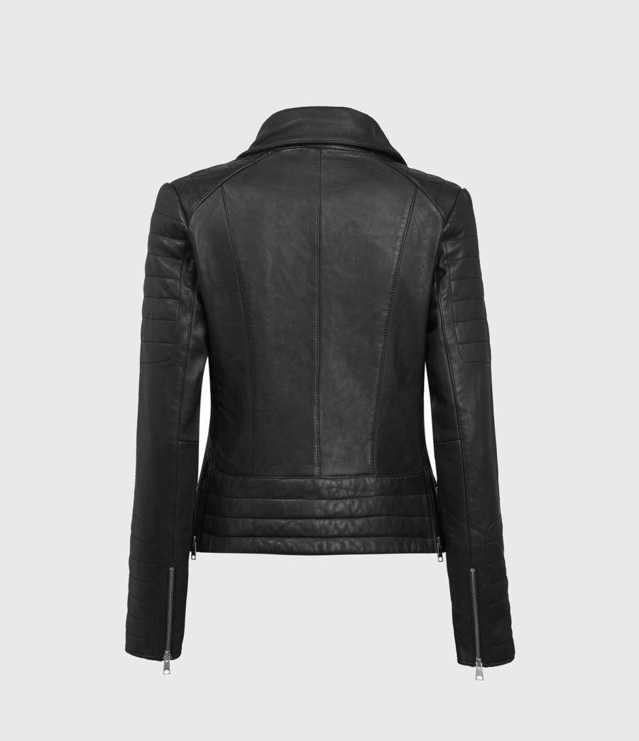 Mujer Steine Leather Biker Jacket (black) - Image 2